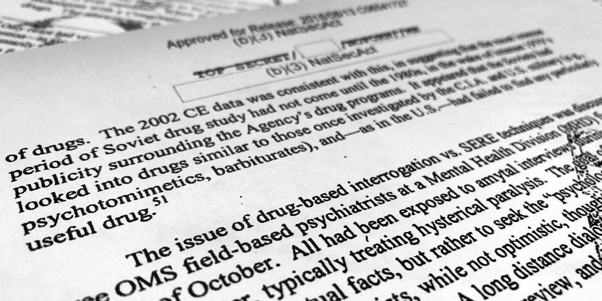 CIA considered using 'truth serum' on post-9/11 detainees