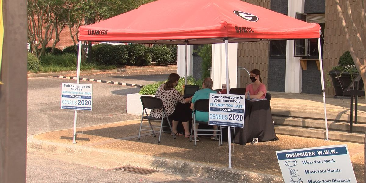 Census booth set up at Moultrie City Hall