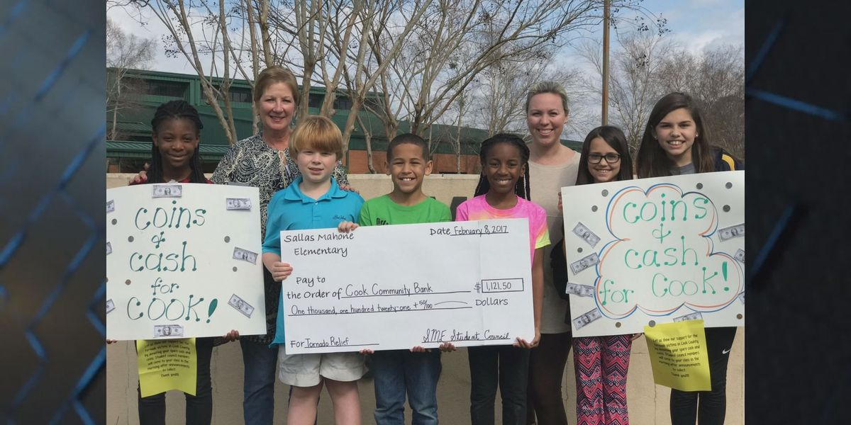 Elementary students pool their money to help storm victims