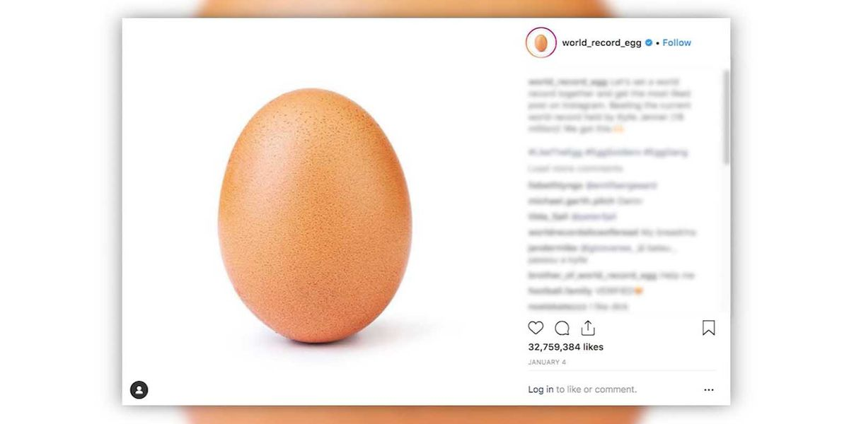 Picture of egg becomes most-liked Instagram post ever