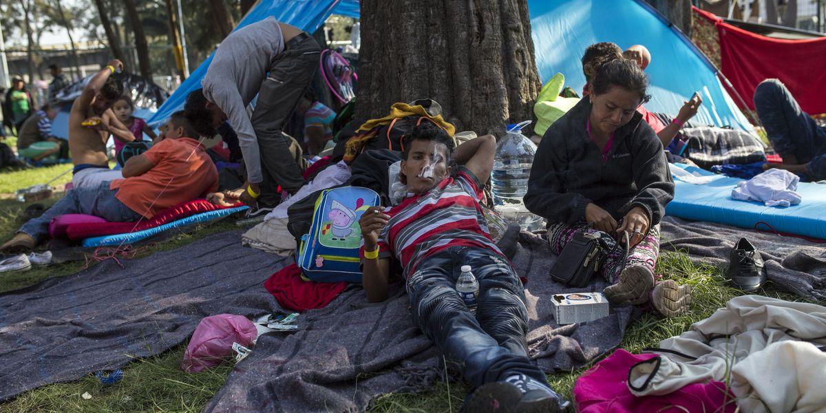 Migrants in caravan shrug over US vote, eye change at home