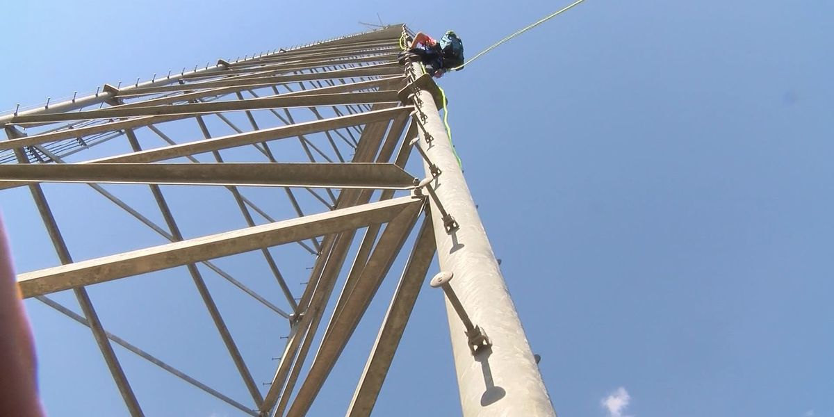 Thomasville firefighters spend hours training on cell towers