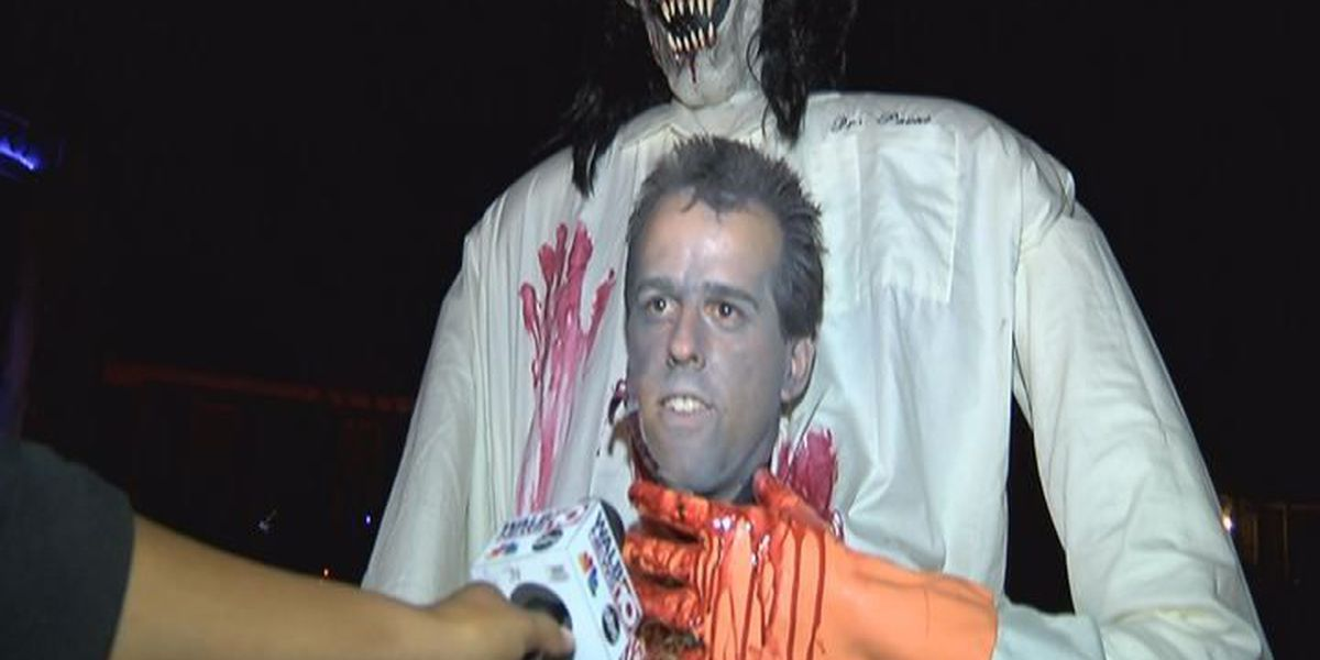 Albany man creates decorations for haunted house