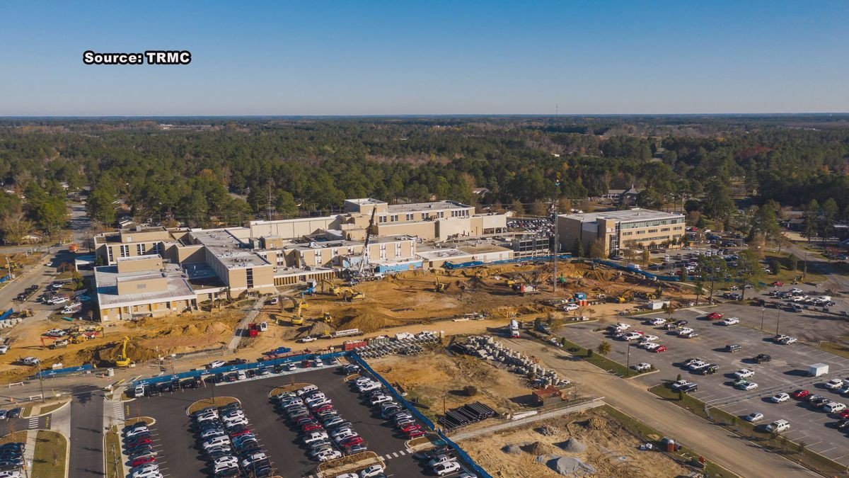 Tift hosital tower construction moves ahead