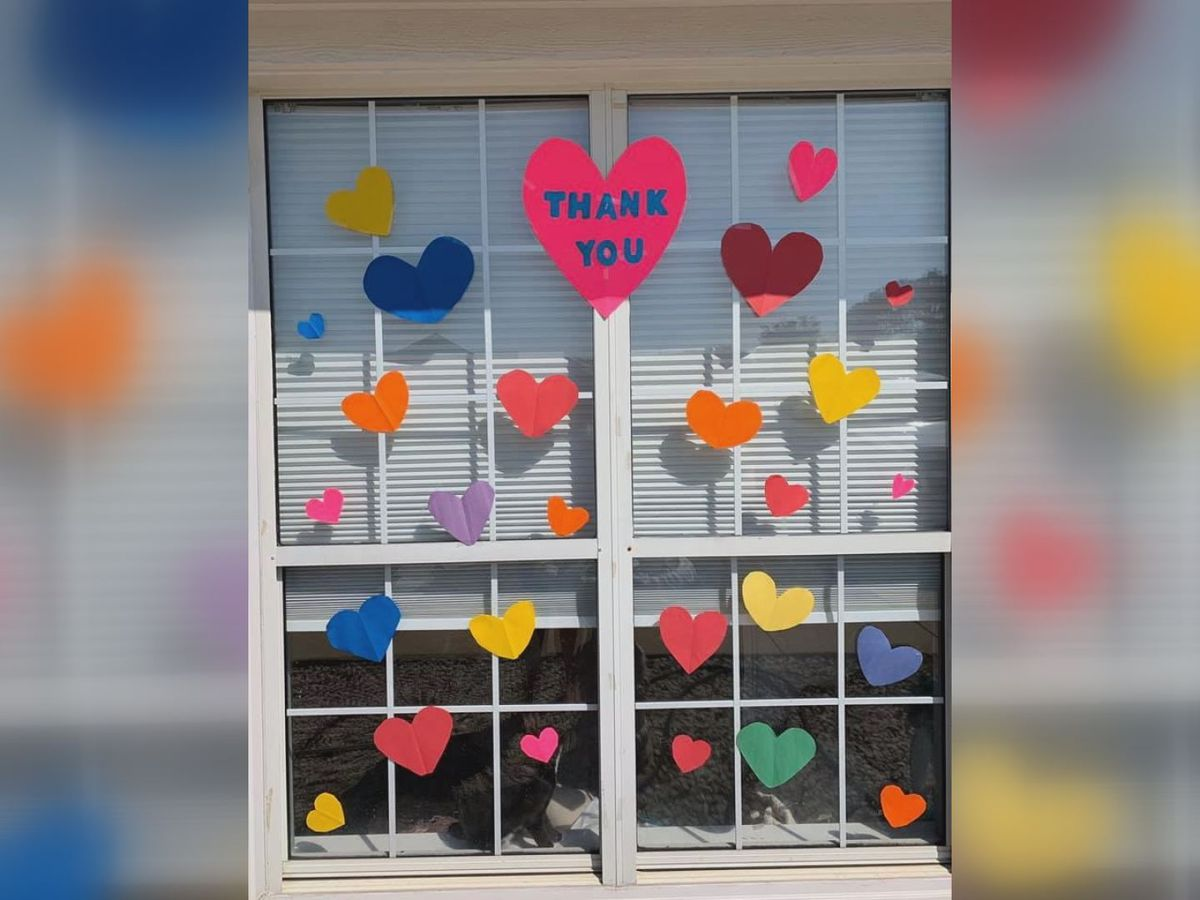 Hearts pop up on Lee Co. doors to show support for health care workers
