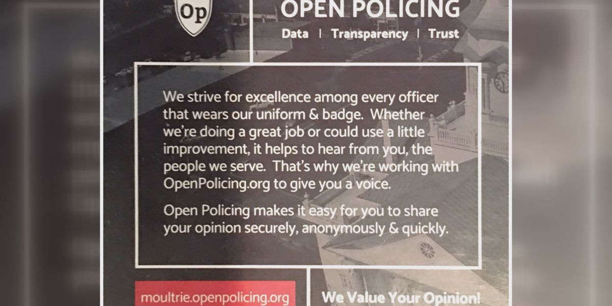 Moultrie PD receives a lot of feedback on 'Open Policing' website