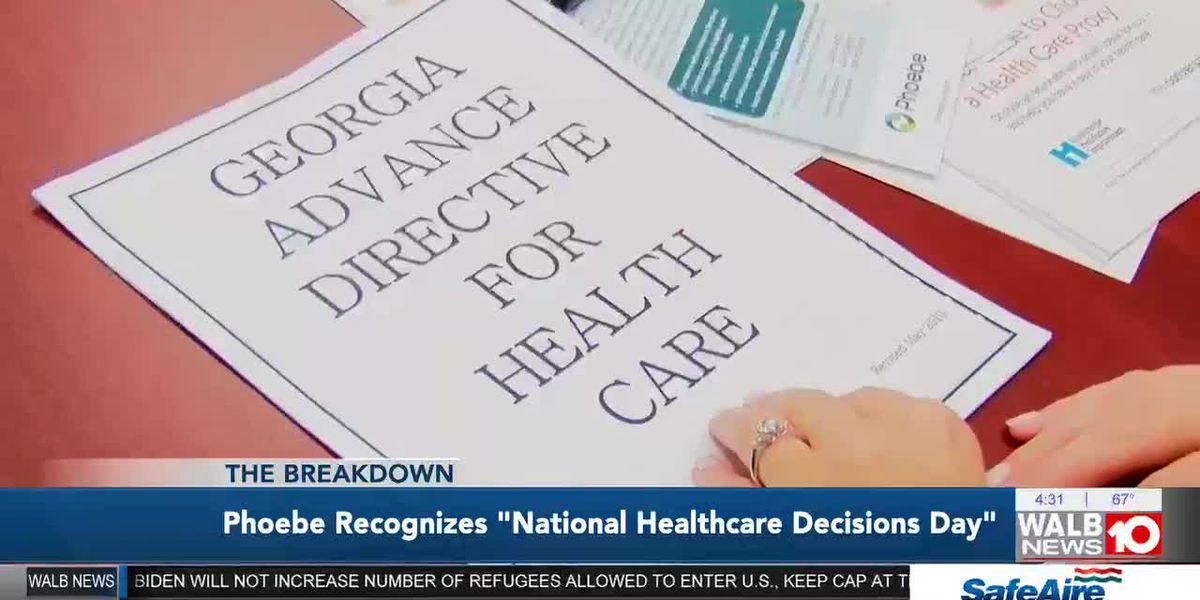 The Breakdown: Phoebe Recognizes 'National Healthcare Decisions Day'