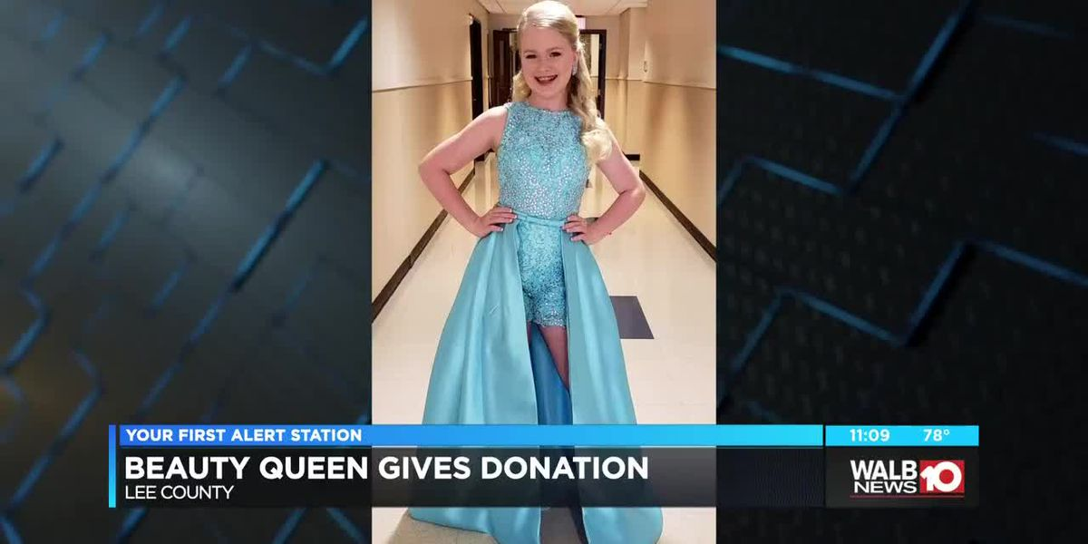 11 year old beauty queen donates to storm recovery
