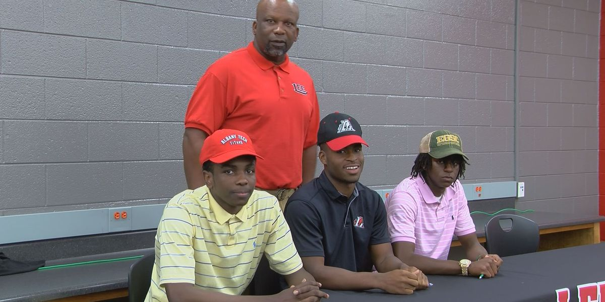 Several Lee County High School students signed letters of intent