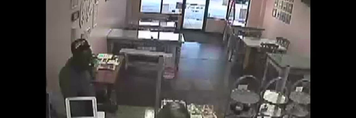 SmallCakes surveillance footage of robbery