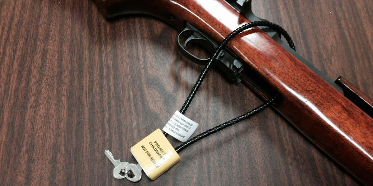 Police give away free gun locks