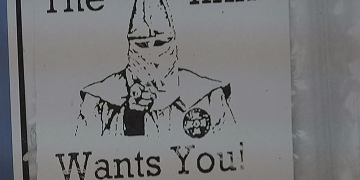 KKK papers show up neighborhoods