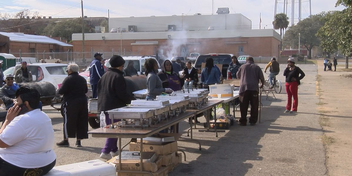 Clothing giveaway and BBQ hosts hundreds