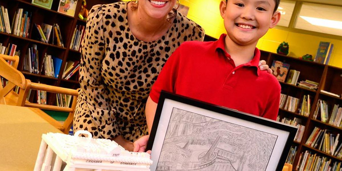 Lake Park student shows promise as an artist