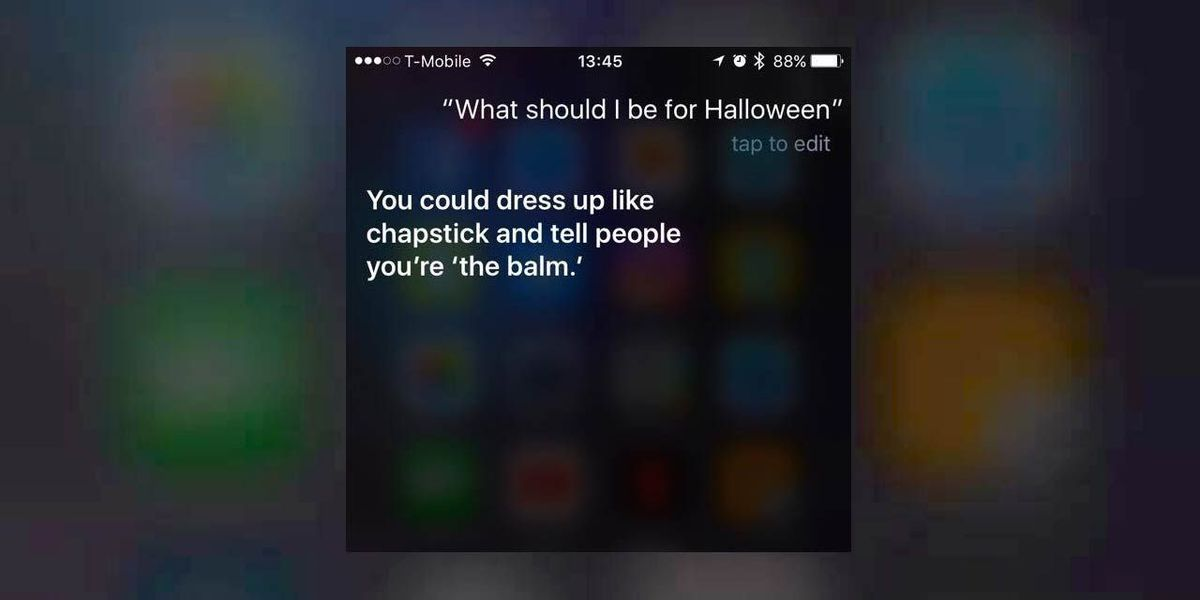 Siri has your back if you need a Halloween costume