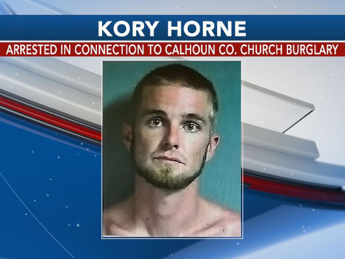 Man arrested in Calhoun Co. church burglary case