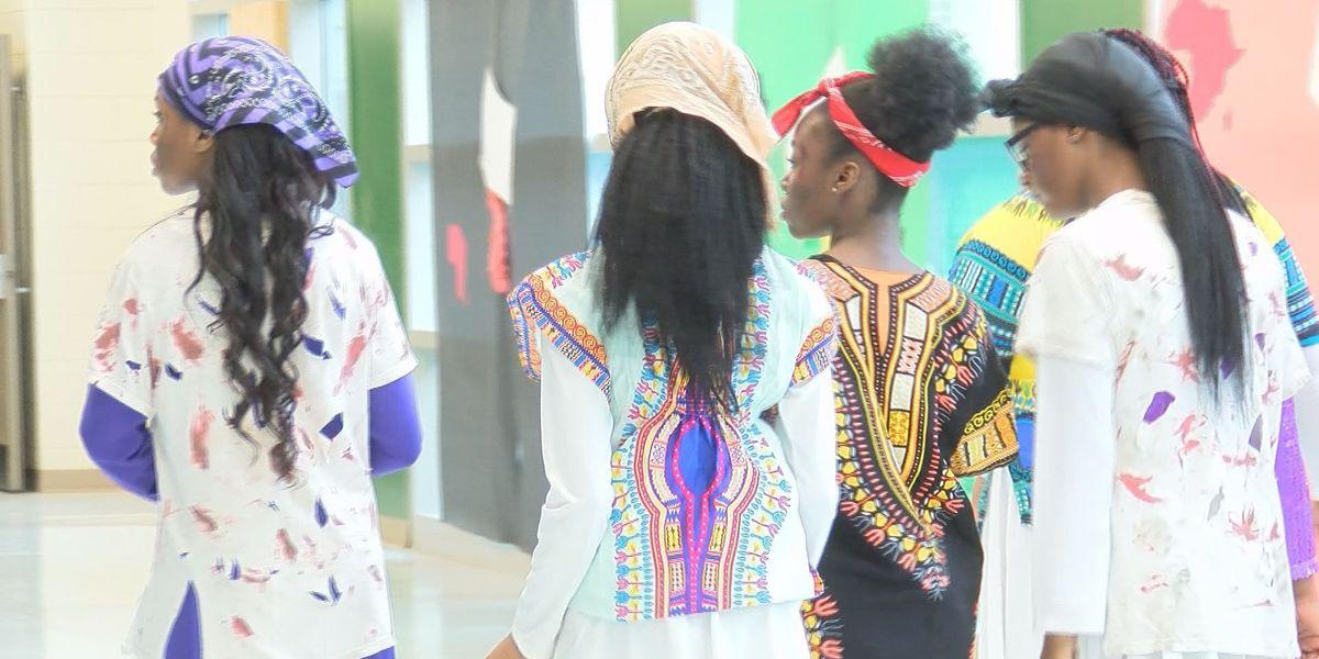 Dance team puts on black history tribute