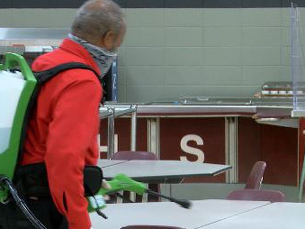 'Unsung heroes:' School custodians battle to keep kids safe from COVID-19