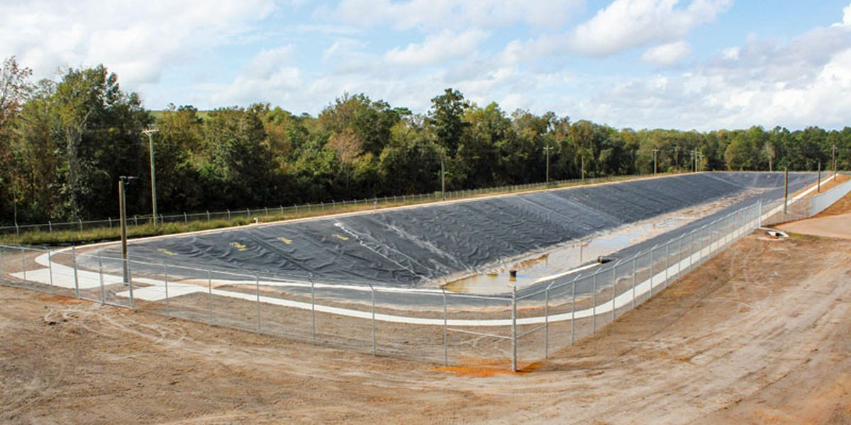 Withlacoochee Plant equalization basin complete