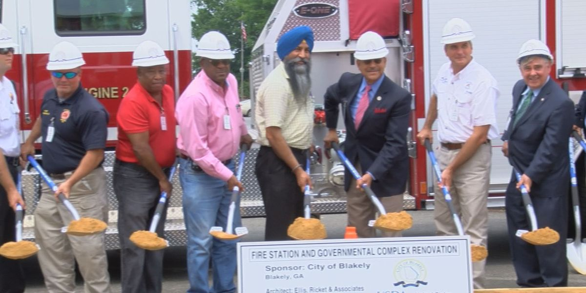 Blakely breaks ground on new fire station, government project