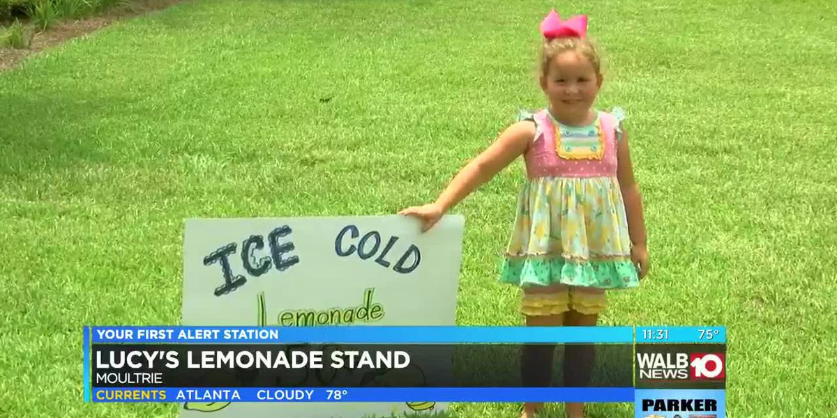 Moultrie kids give back after major sale in lemonade stand