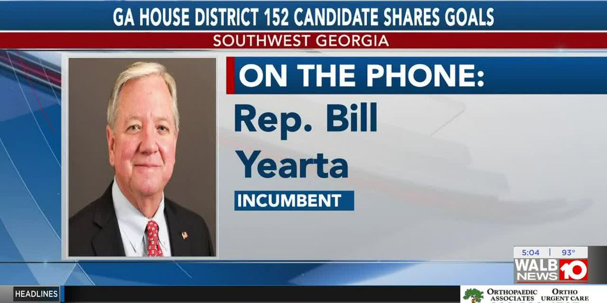 Candidates race for the Georiga House District 152 seat, Rep. Bill Yearta shares goals