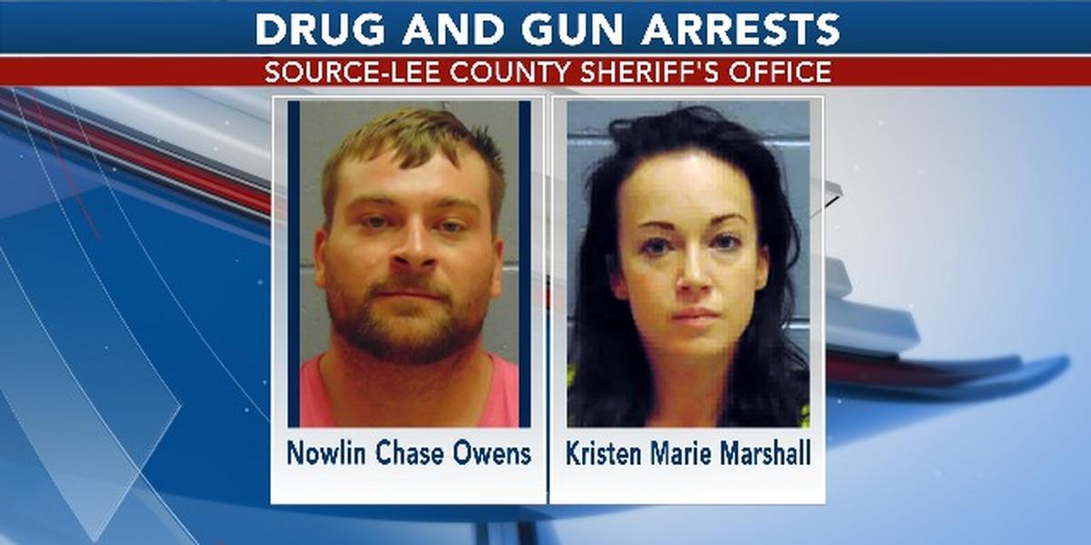 2 arrested in Lee Co. guns, drugs incident