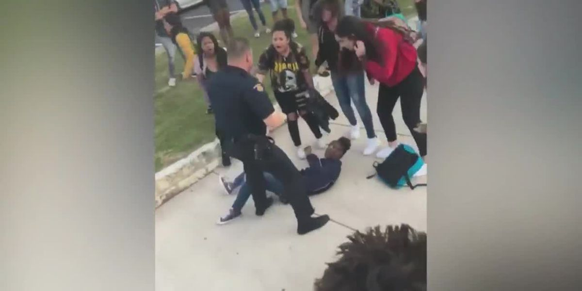 Video: School resource officer slams down teenage girl in TX