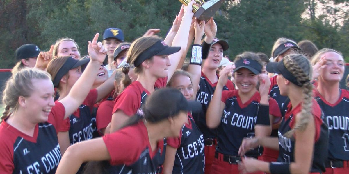 Lee County Softball claims third straight region title