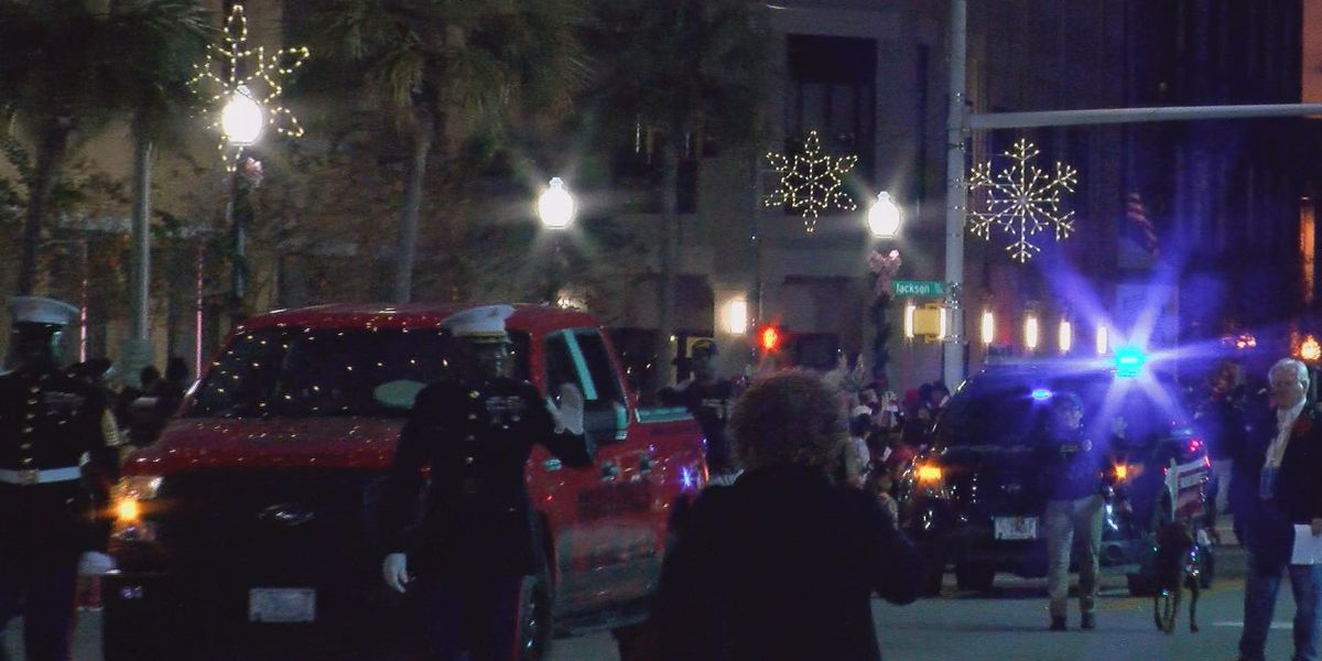 2020 Christmas Parade, Albany, Ga. Hundreds gathered to watch the Albany Christmas Parade