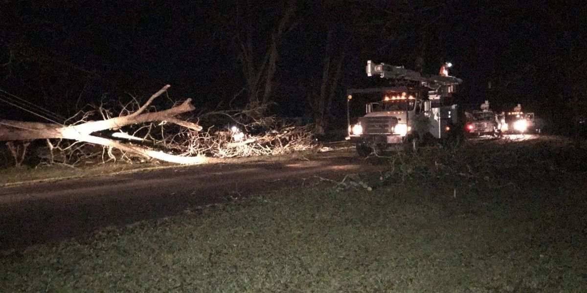 Storms pound South Georgia, hundreds without power