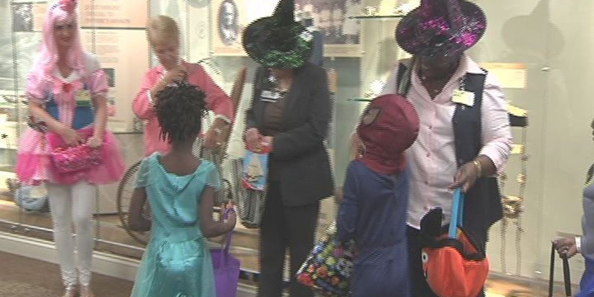 """Young patients """"trick or treat"""" at Phoebe Putney hospital"""