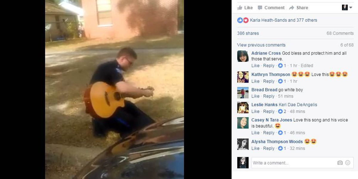 VIDEO: GA police officer brightens woman's day with serenade