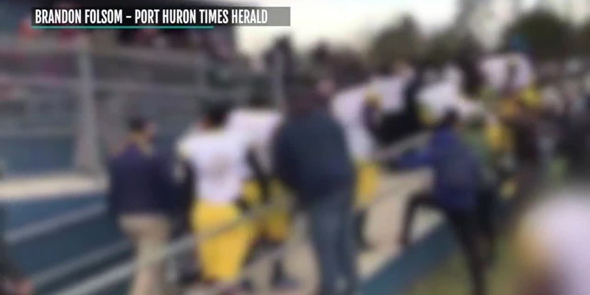 Brawl breaks out after Michigan high school football game
