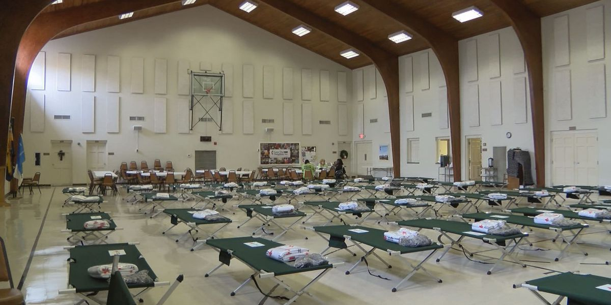 Shelters set up around town for storm victims