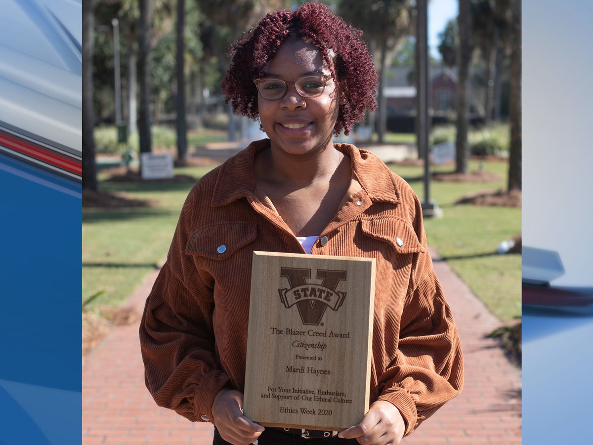VSU student awarded 'Blazer Creed Award for Citizenship'
