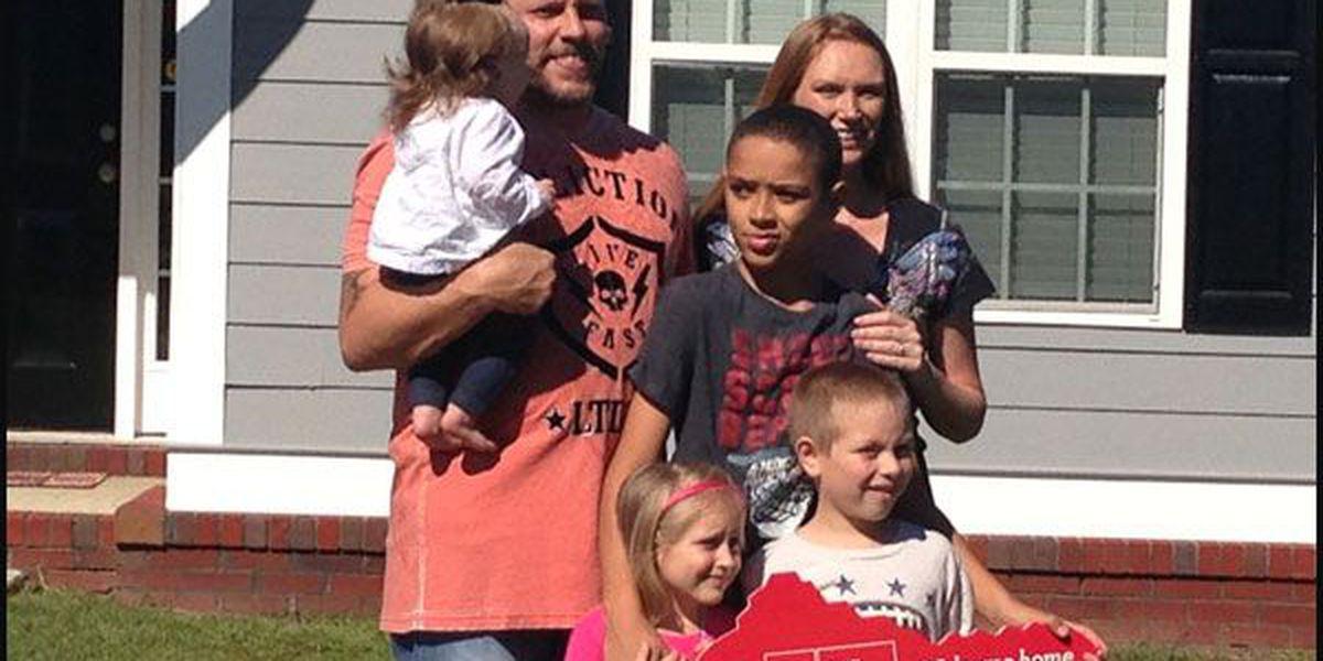 Veteran's family receives new home