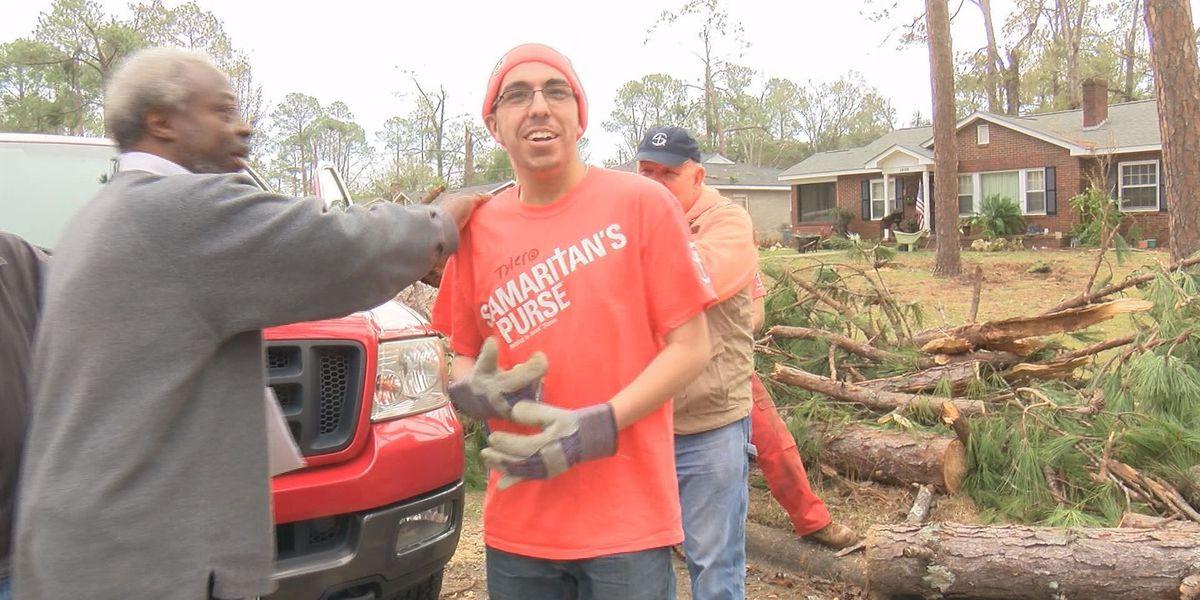 Samaritan's Purse removes trees, tarps roofs