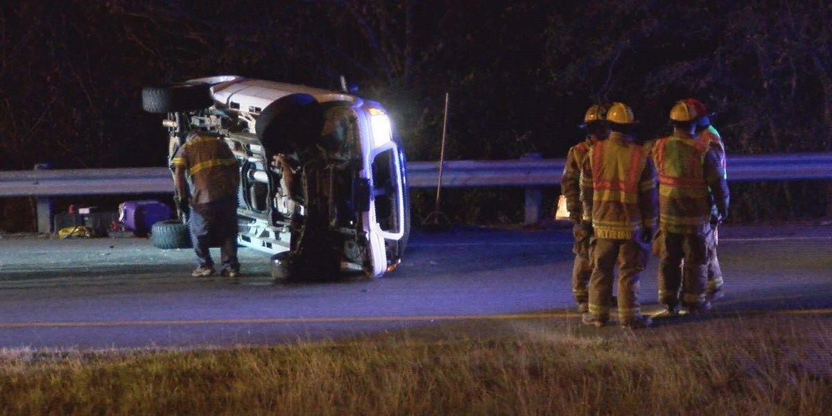 Overturned truck snarls traffic on Albany bypass