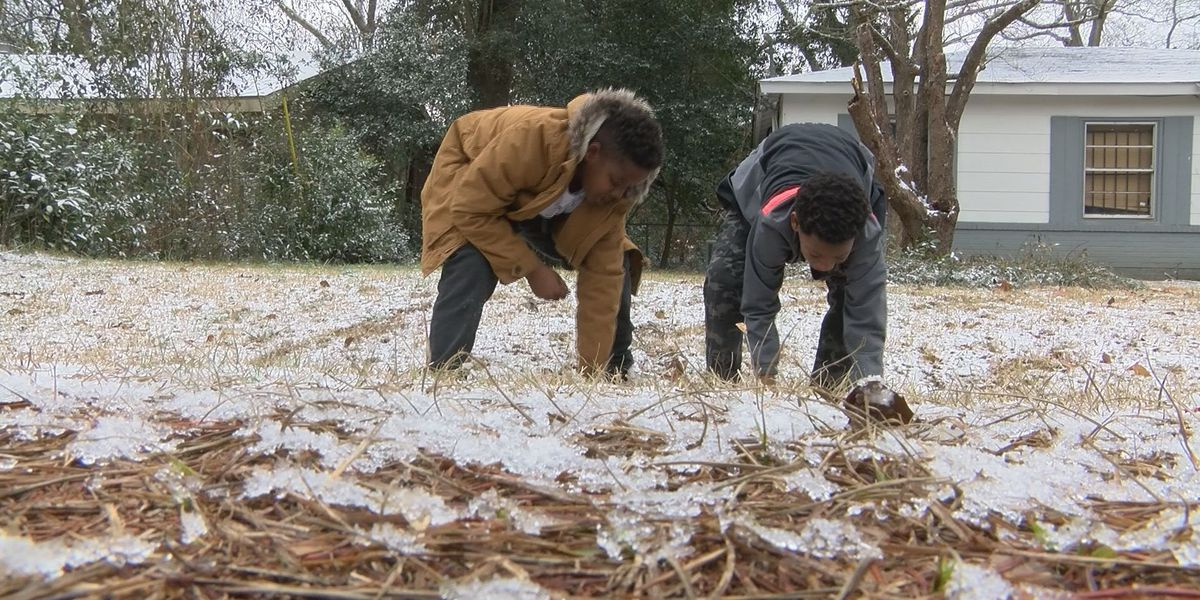Albany and Dougherty County residents enjoy winter wonderland