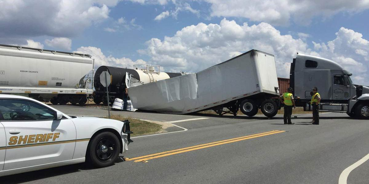Semi collides with train in Tift Co.