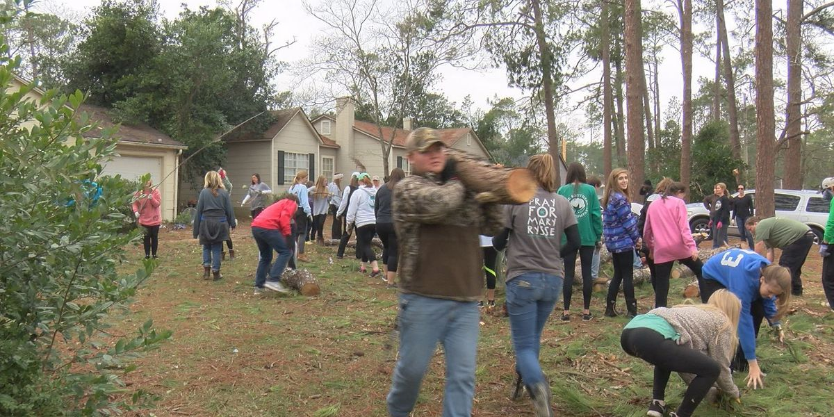 Students arrive to help Albany clean up