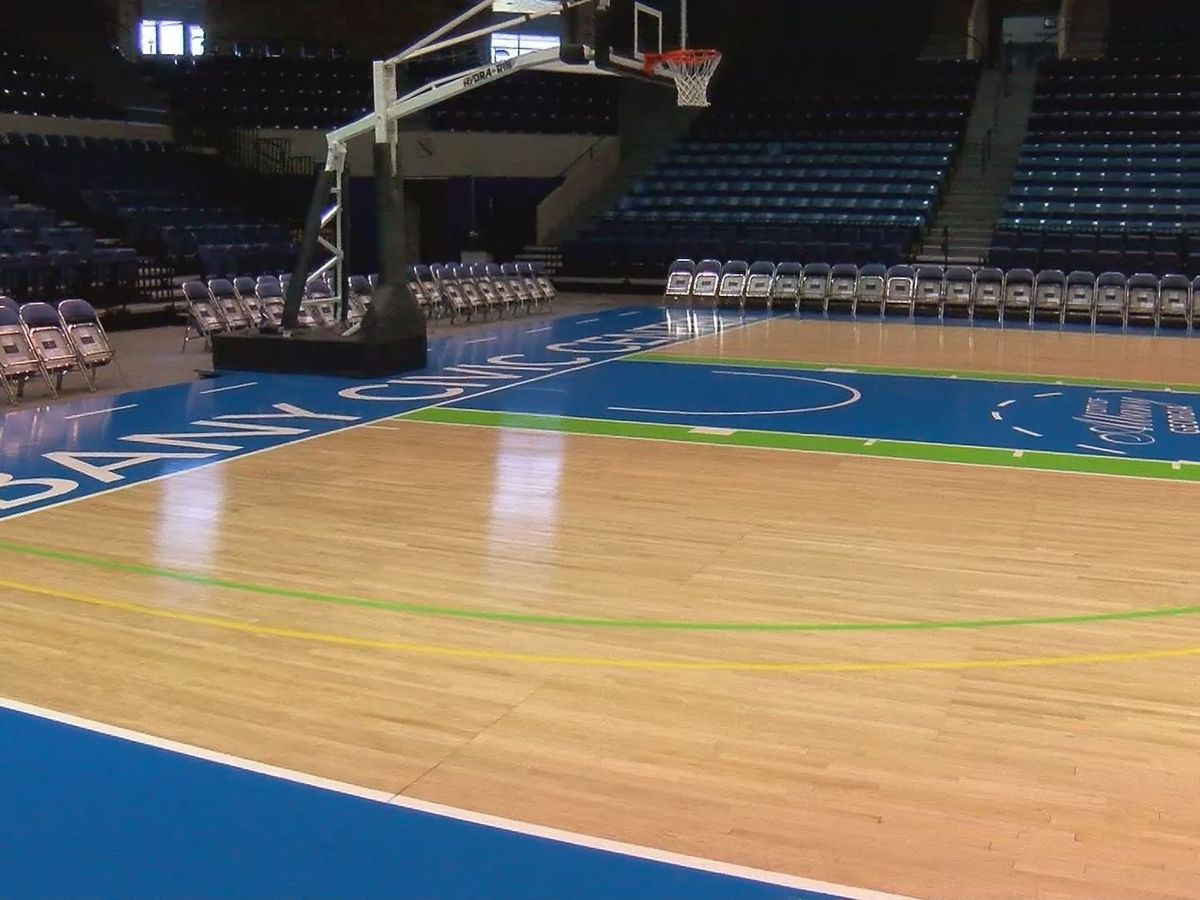 Albany Civic Center reveals new basketball court