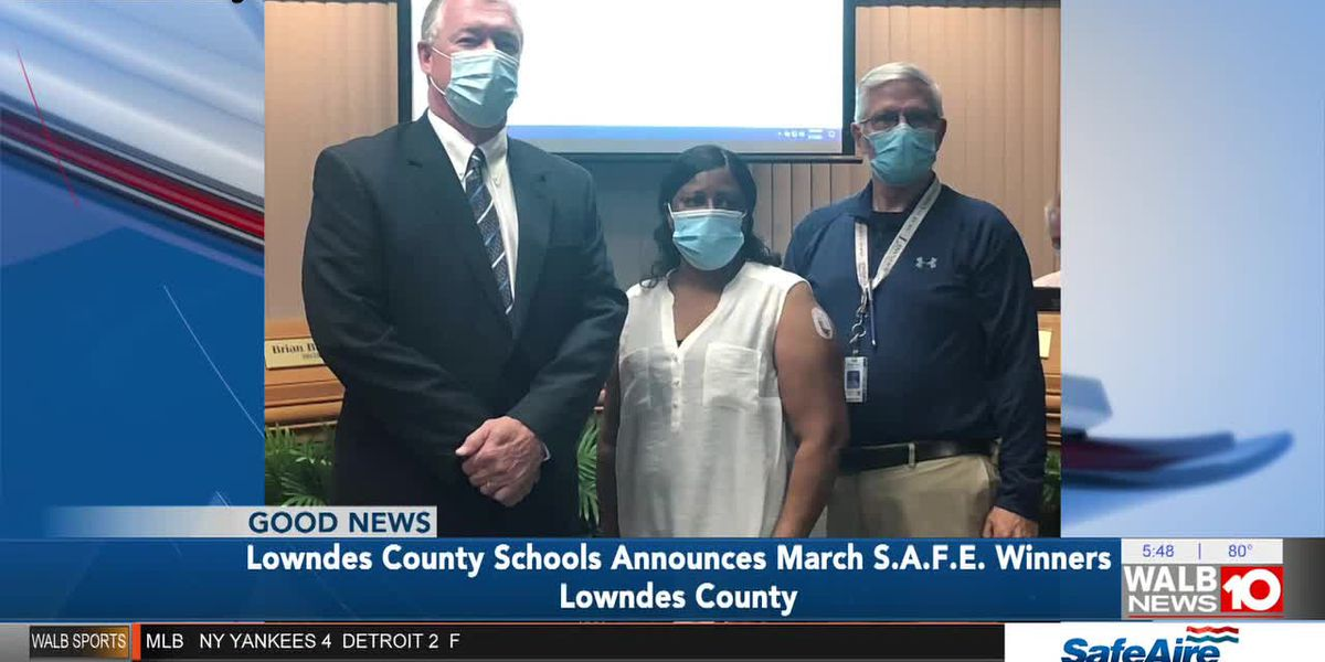 Good News: Lowndes Co. Schools names March SAFE award winners