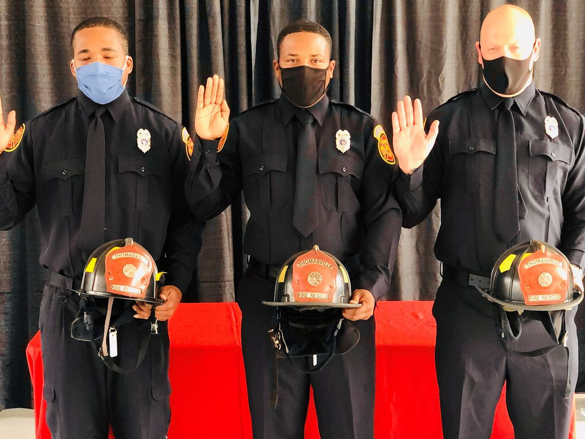 Pinning ceremony honors 3 Thomasville Fire Rescue school graduates