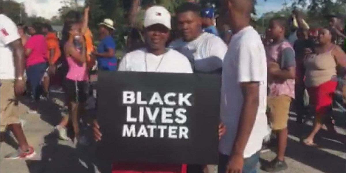 Black Lives Matter members march with Thomasville protesters