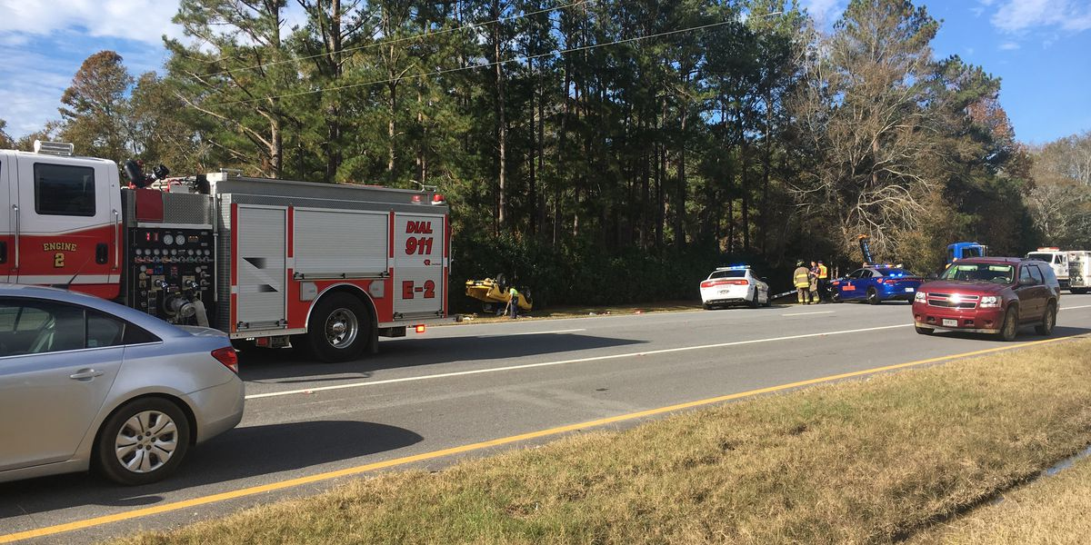 Driver air-lifted after Highway 82 wreck