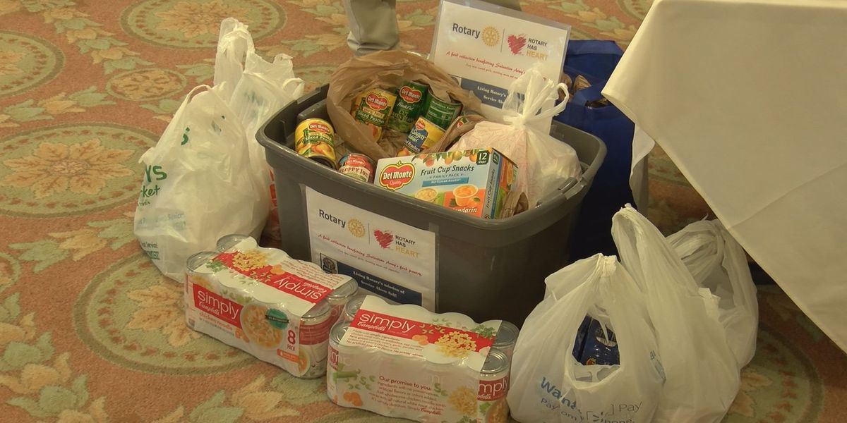 Rotary Club donates food to Salvation Army