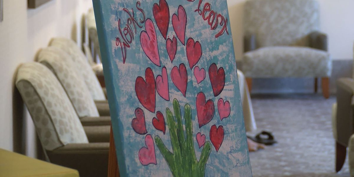 Archbold patients paint for Pink Affair Fashion Show