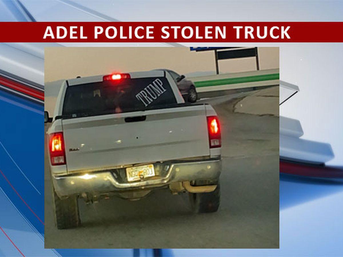 Adel Police issue alert for stolen truck
